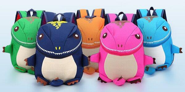 Dětský batůžek dinosaurus v 5 veselých barvách