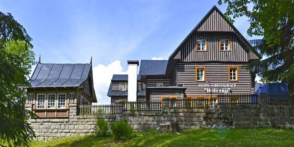 Jarní pobyt ve Špindlu s polopenzí i saunou
