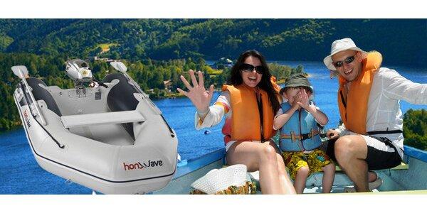 Půjčení motorových i bezmotorových člunů na Slapech