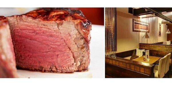 Výborné steaky z mladého býčka pro 2 osoby