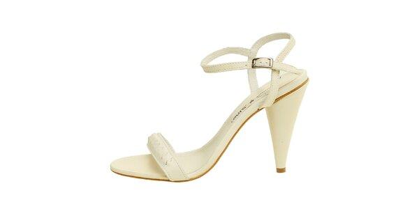 Dámské krémově bílé kožené sandálky Levis