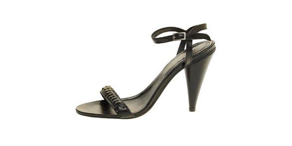 Dámské černé kožené sandálky Levis
