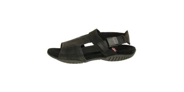 Dámské černé kožené sandály Levis