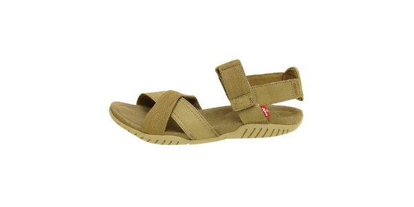 Dámské khaki sandále Levis