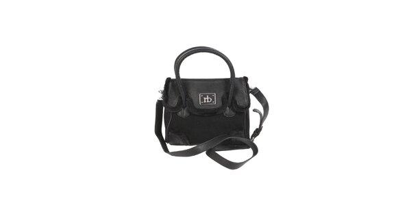 Dámská černá kabelka s kožíškem Roccobarocco