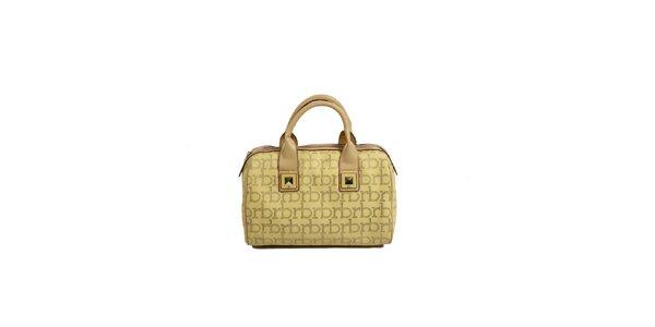 Dámská žlutá kabelka s monogramem a cvočky Roccobarocco