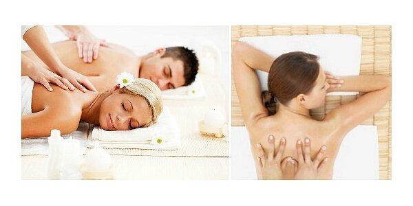 60 minut - relaxační celotělová masáž