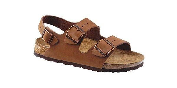 Světle hnědé kožené sandály Newalk