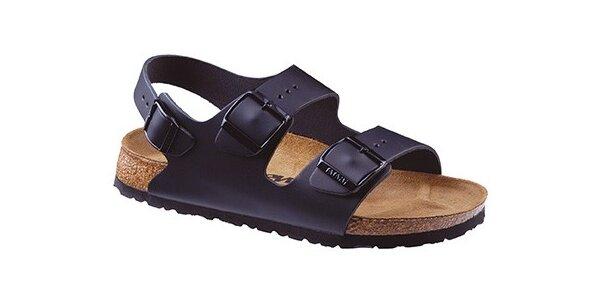 Černé kožené sandály Newalk