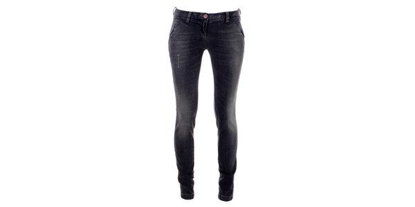 Dámské šedo-černé úzké džíny Phard