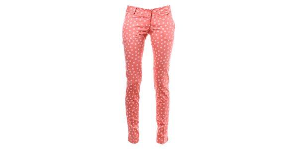 Dámské růžové puntíkované kalhoty Phard