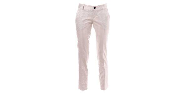 Bílé pruhované kalhoty s puky Phard