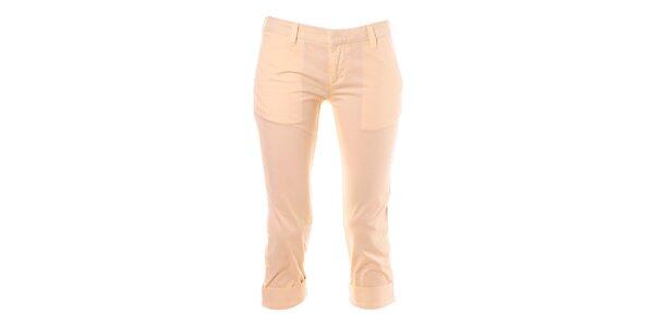 Dámské vanilkové capri kalhoty Phard