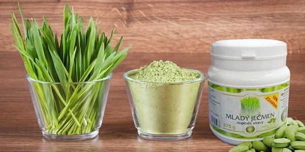Mladý zelený ječmen v praktických tabletách