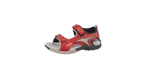 Červeno-šedé trekové sandále Head