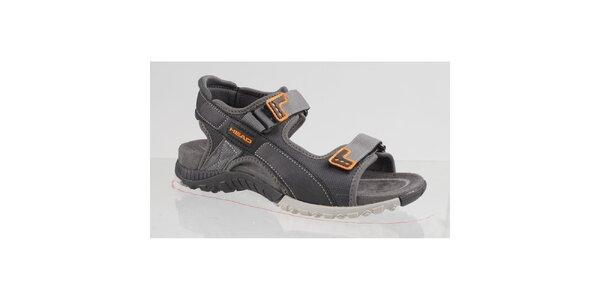 Pánské šedo-oranžové trekové sandále Head