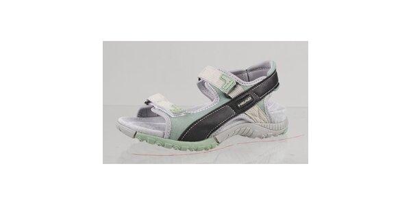 Černo-zelené outdoorové sandále s šedými detaily Head