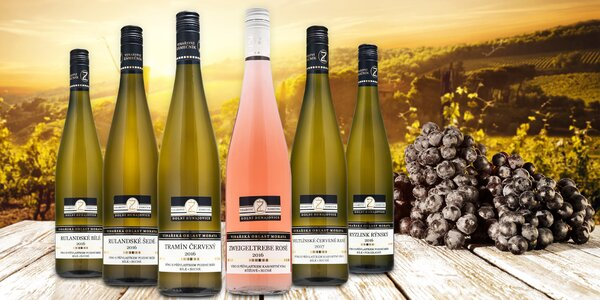 Kolekce 6 přívlastkových vín Vinařství Zámečník