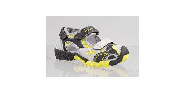 Dámské černo-žluté sandále s šedými detaily Head