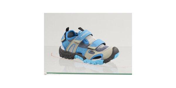 Dětské modré boty s šedými detaily Head