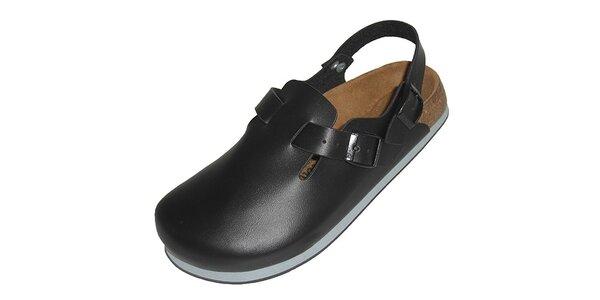 Černé uzavřené pantofle Betula