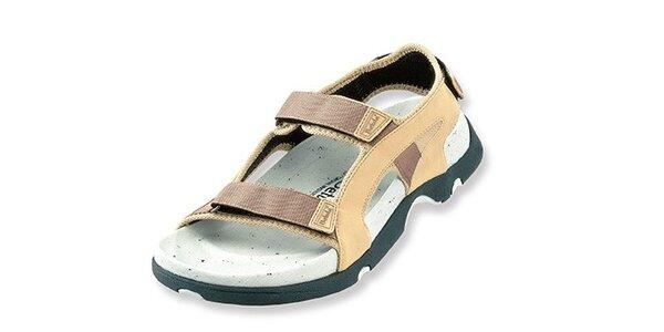 Dámské béžovo-hnědé textilní sandály Betula