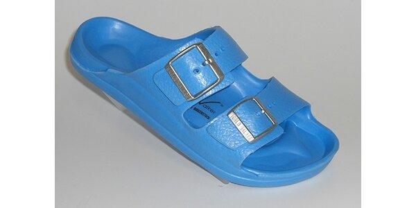 Světle modré pantofle World Walker