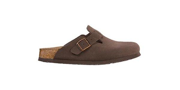 Hnědé kožené pantofle Newalk