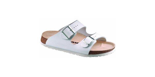 Pánské bílé kožené pantofle Newalk