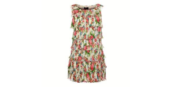 Dámské plisované šaty Yumi s volánky