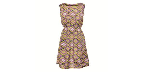 Dámské barevné šaty Yumi s grafickým vzorem