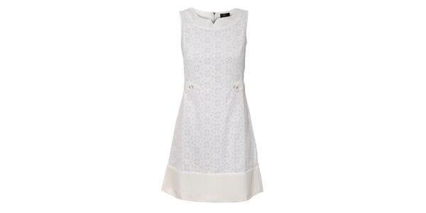 Dámské bílé krajkové šaty Yumi
