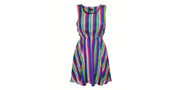 Dámské duhové proužkované šaty Yumi