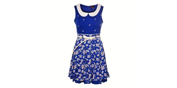 Dámské indigové kopretinové šaty Yumi