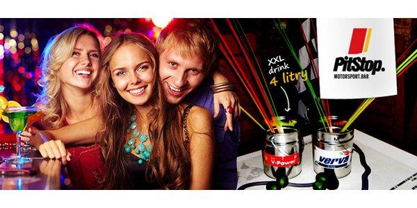 XXL drinky pro 8 osob v baru PitStop - Mojito, Cuba Libre atd.