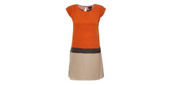 Dámské oranžovo-béžové šaty Yumi