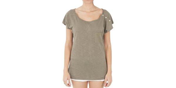 Dámské dlouhé hnědé tričko s knoflíčky Women'Secret