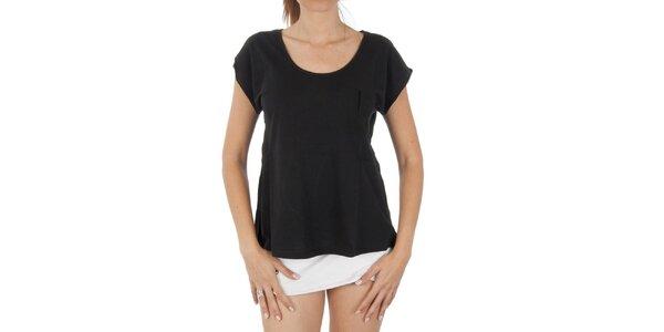 Dámské černé tričko s kapsičkou Women'Secret
