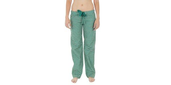Dámské zeleno-bílé pyžamové kalhoty Women'Secret
