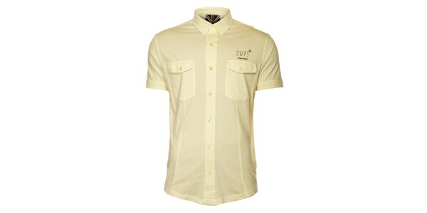 Pánská světle žlutá košile ZU elements