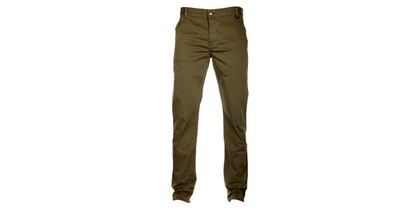 Pánské tmavě okrové kalhoty ZU elements
