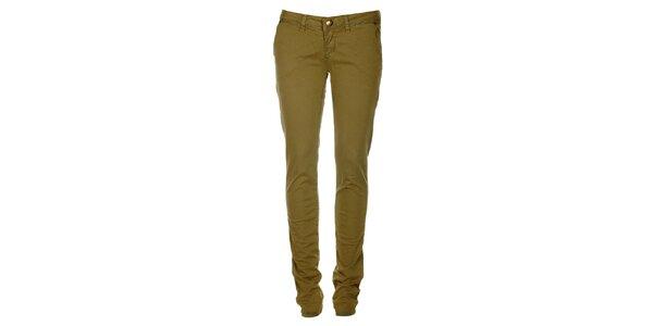 Dámské olivově zelené skinny džíny ZU elements