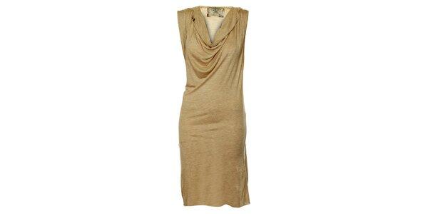 Dámské béžové splývavé šaty ZU elements