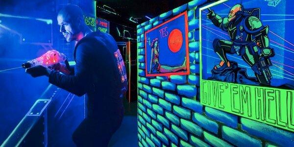 Akční laser game v centru Prahy pro 1–16 hráčů