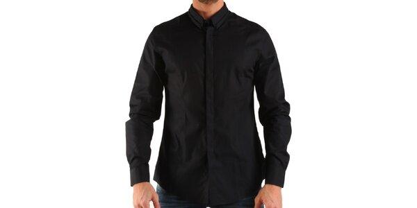 Pánská černá košile s dlouhým rukávem Calvin Klein