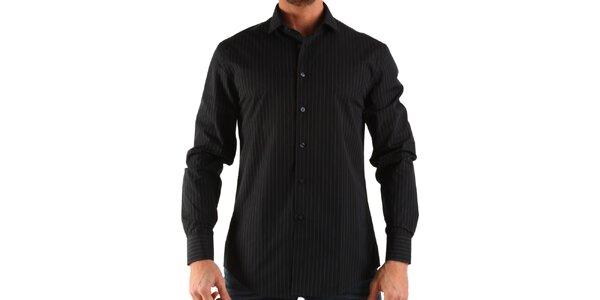 Pánská černá košile s proužkem Calvin Klein