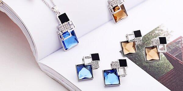 Elegantní souprava náušnic a náhrdelníku