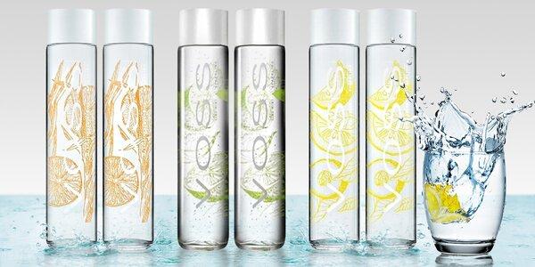 Ochucená artézská voda VOSS v designové láhvi