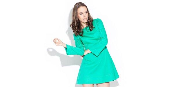 Dámské lesklé zelené šaty Katrus