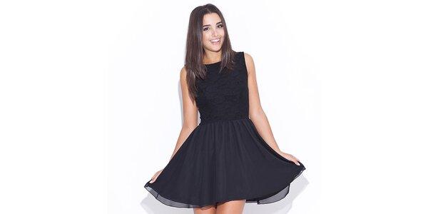 Dámské černé šaty Katrus